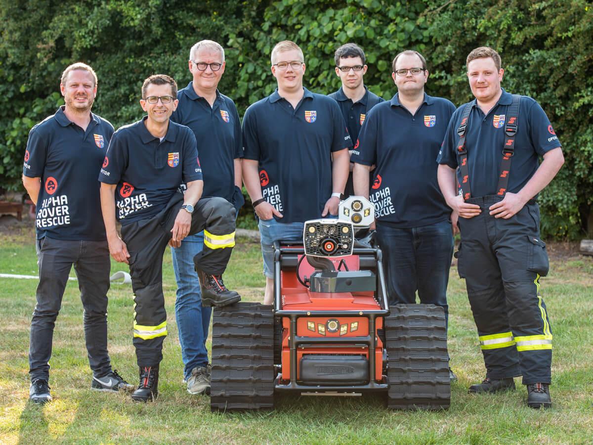 Das Einsatzteam der Feuerwehr Lohne